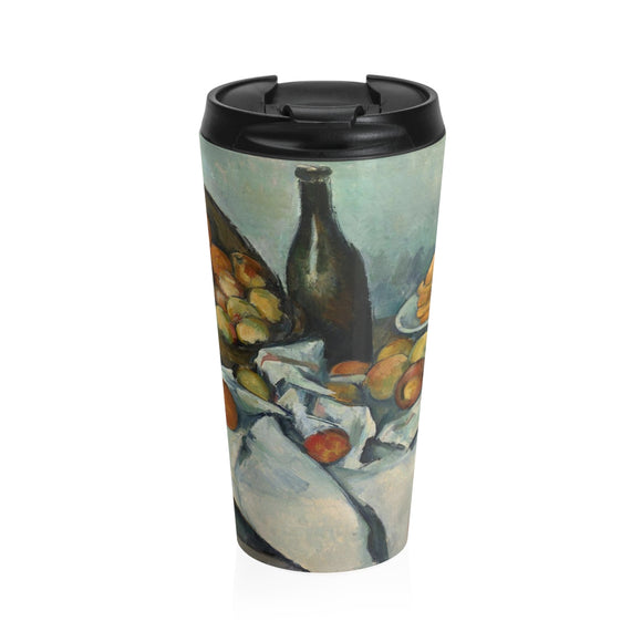 The Basket of Apples by Cezanne - Stainless Steel Travel Mug