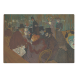 At the Moulin Rouge by Toulouse-Lautrec - Glass Cutting Board