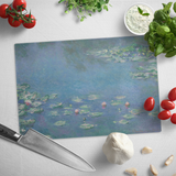 Water Lilies by Monet - Glass Cutting Board