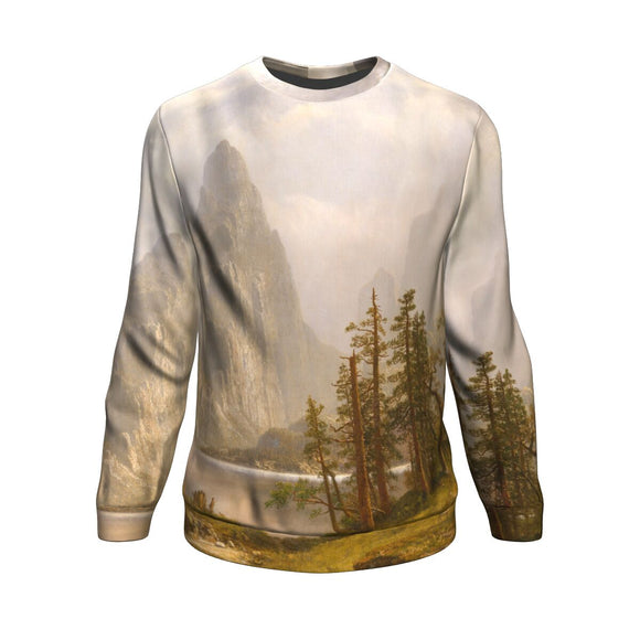 Merced River, Yosemite Valley  by Bierstadt - Sweatshirt
