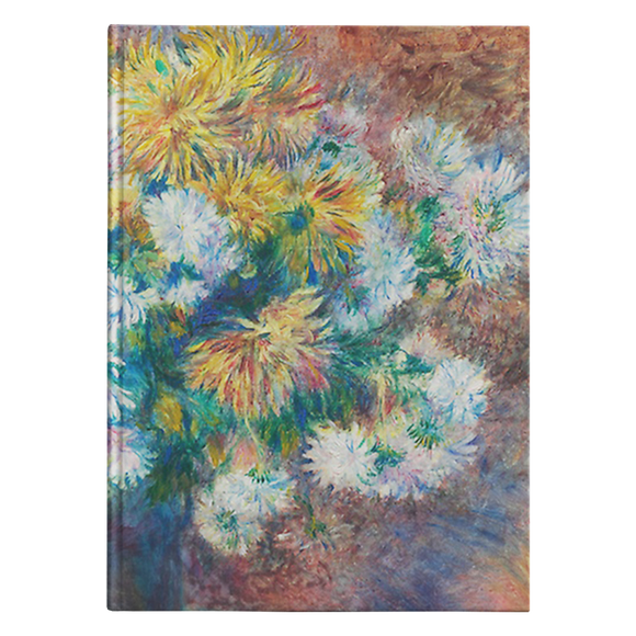 Chrysanthemums by Renoir - Hardcover Journal
