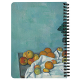 Still Life with Apples and a Pot of Primroses by Cezanne - Spiralbound Notebook