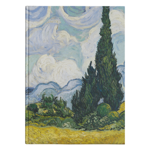 Wheat Field with Cypresses by van Gogh - Hardcover Journal