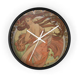Dance by Mucha Wall clock