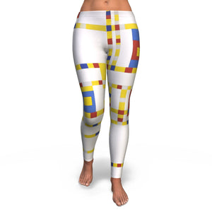Broadway Boogie Woogie by Mondrian - Leggings