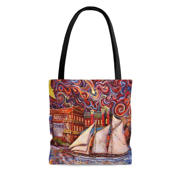 Pt Townsend State of Mind by Tocher - Cloth Tote Bag