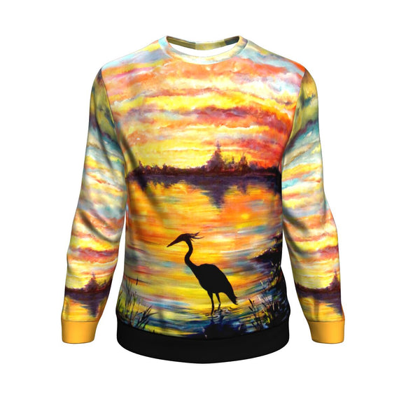 Heron Sunset by Tocher - Sweatshirt