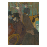 At the Moulin Rouge by Toulouse-Lautrec - Hardcover Journal
