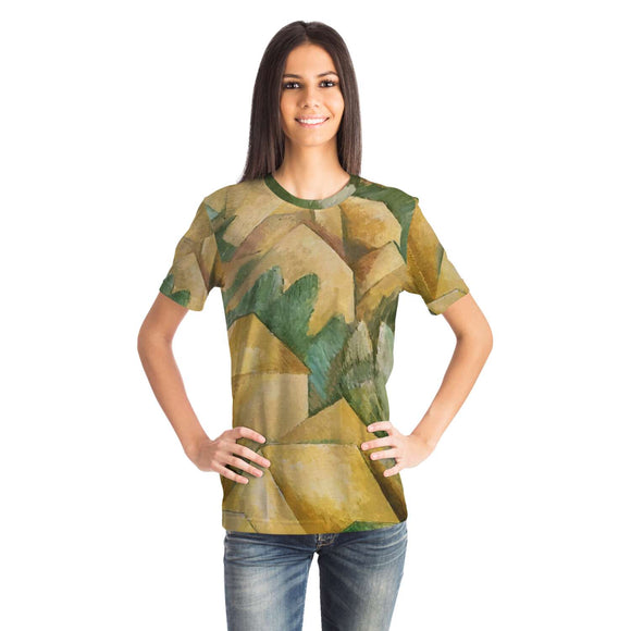 Houses at l'Estaque by Braque - Unisex T-shirt