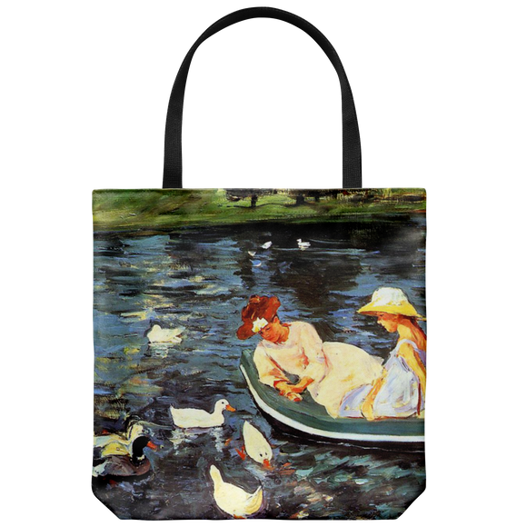 Summertime by Cassatt - Cloth Tote Bag