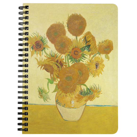 Sunflowers by van Gogh - Spiralbound Notebook