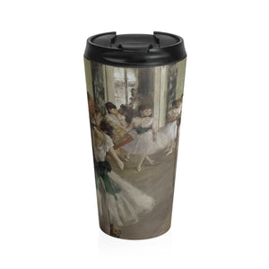 The Ballet Class by Degas - Stainless Steel Travel Mug