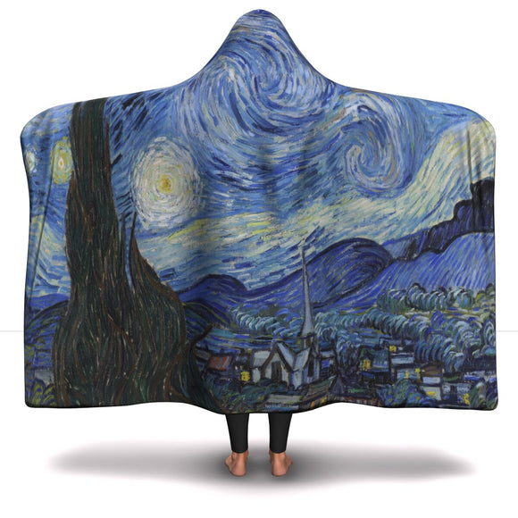Starry Night by van Gogh - Hooded Blanket
