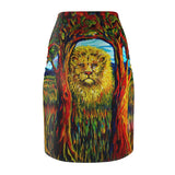 Soul Lion by Tocher - Pencil Skirt