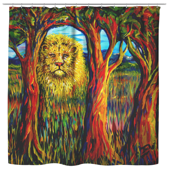 Soul Lion by Tocher - Shower Curtain