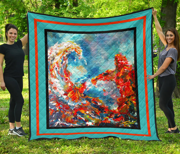 Tsunami by Tocher - Quilted Art in 5 sizes