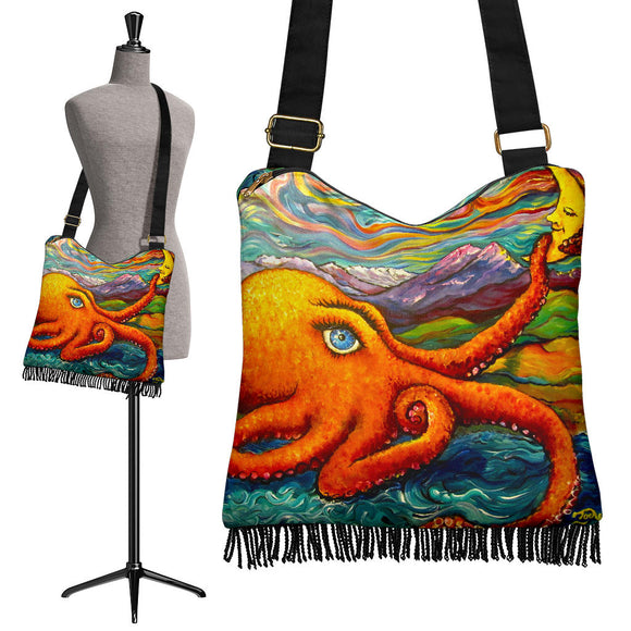 Octopi Port Angeles by Tocher - Crossbody Boho Handbag