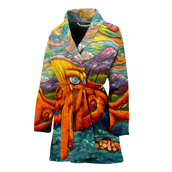 Octopi Port Angeles by Tocher - Women's Bathrobe