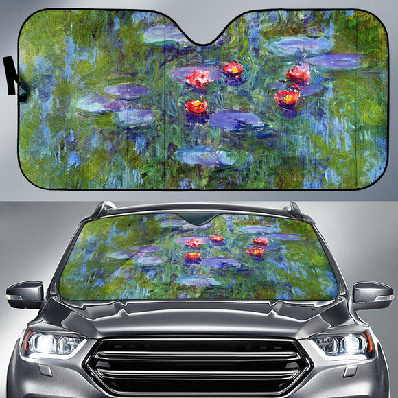 Water Lilies by Monet - Auto Sunshade