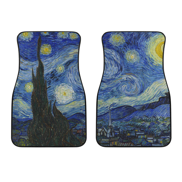 Starry Night by van Gogh - Front Car Mats