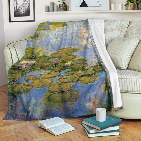 1919 Waterlilies by Monet - Premium Blankets