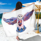 Owl Spirit by Tocher - Large Scarf / Sarong / Shawl