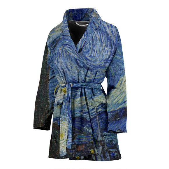 Starry Night by van Gogh - Women's Bathrobe