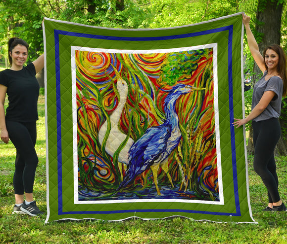 Wetlands 2 by Tocher - Art Quilt in 5 sizes