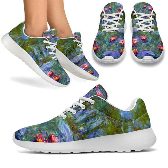 Water Lilies by Monet - Sports Sneakers