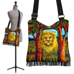 Soul Lion by Tocher - Crossbody Boho Bag