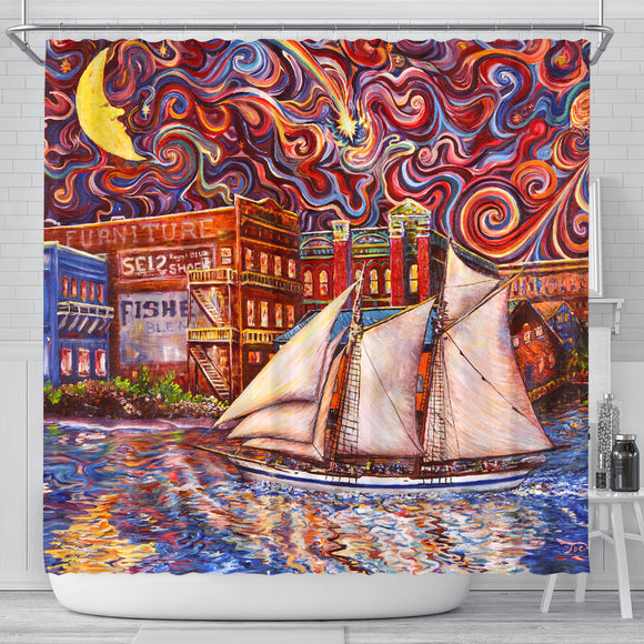 Pt Townsend State of Mind by Tocher - Shower Curtain
