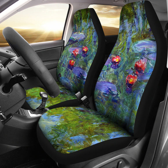 Water Lilies by Monet - Car Seat Covers