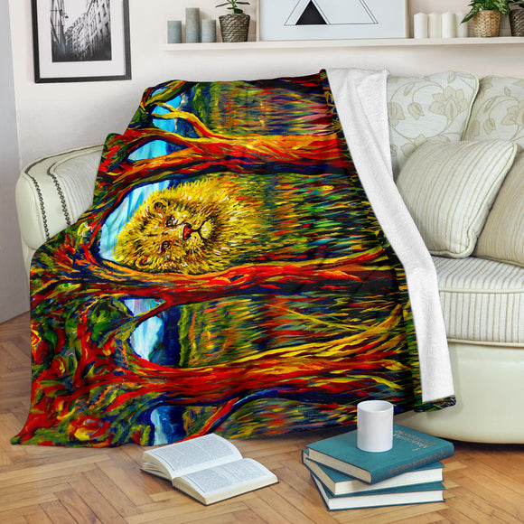 Soul Lion by Tocher - Premium Blankets