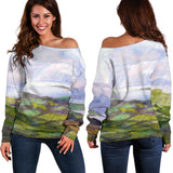 Emerald Isle by Tocher - Off-the-Shoulder Sweater