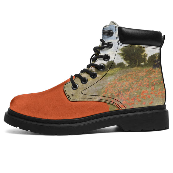 Red Poppy Field by Monet - All-Season Boots