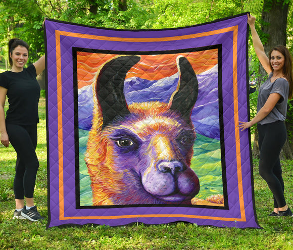 Llama by Tocher - Quilted Art in 5 sizes