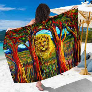 Soul Lion by Tocher - Large Scarf, Shawl or Sarong