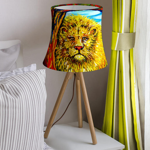 Soul Lion by Tocher - Drum Lampshade