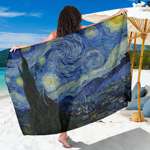 Starry Night by van Gogh - Large Scarf / Sarong
