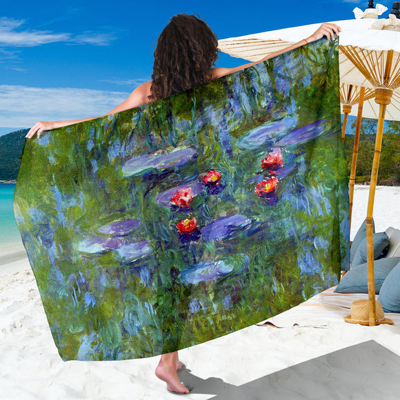 Water Lilies by Monet - Extra Large Scarf