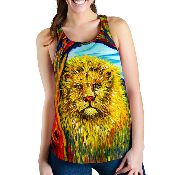 Soul Lion by Tocher - Racerback Tank Top