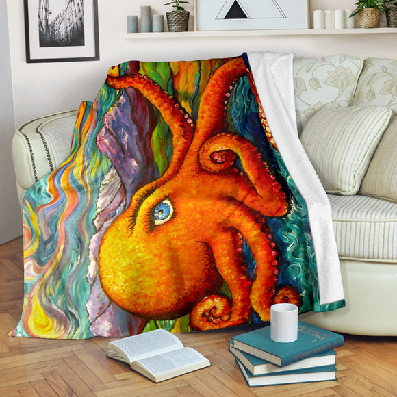 Octopi Port Angeles by Tocher - Premium Blankets