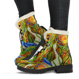 Wetlands 2 by Tocher - Faux Fur Leather Boots