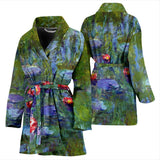 Water Lilies by Monet - Women's Bathrobe