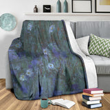 Blue Water Lilies by Monet - Premium Blankets