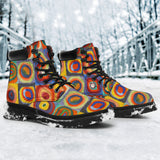 Squares with Concentric Circles by Kandinsky - All-Season Boots