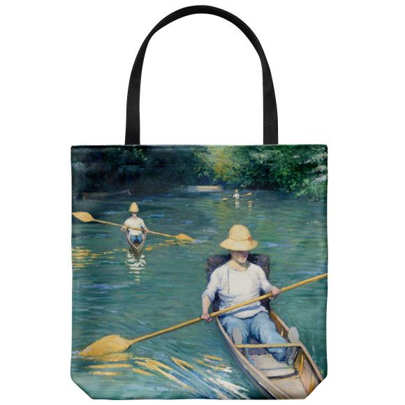 Skiffs by Caillebotte - Cloth Tote Bag