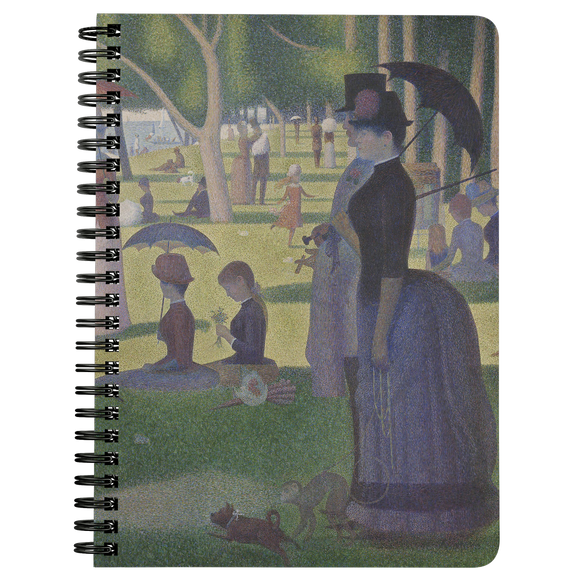 A Sunday on La Grande Jatte by Seurat - Spiralbound Notebook