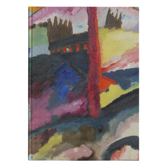Landscape with Factory Chimney by Kandinsky - Hardcover Journal