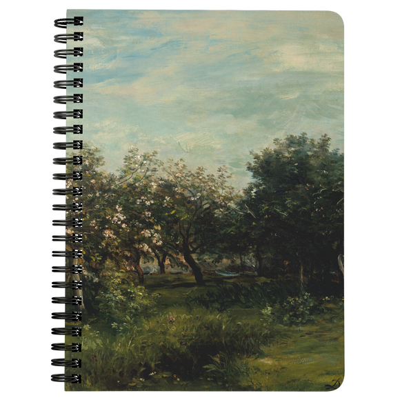 Apple Blossoms by Daubigny - Spiralbound Notebook